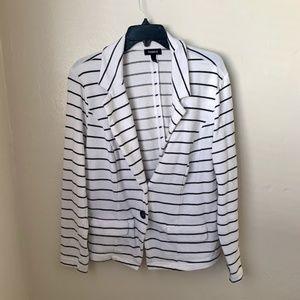 Torrid White Black Striped Blazer Jacket Plus Size